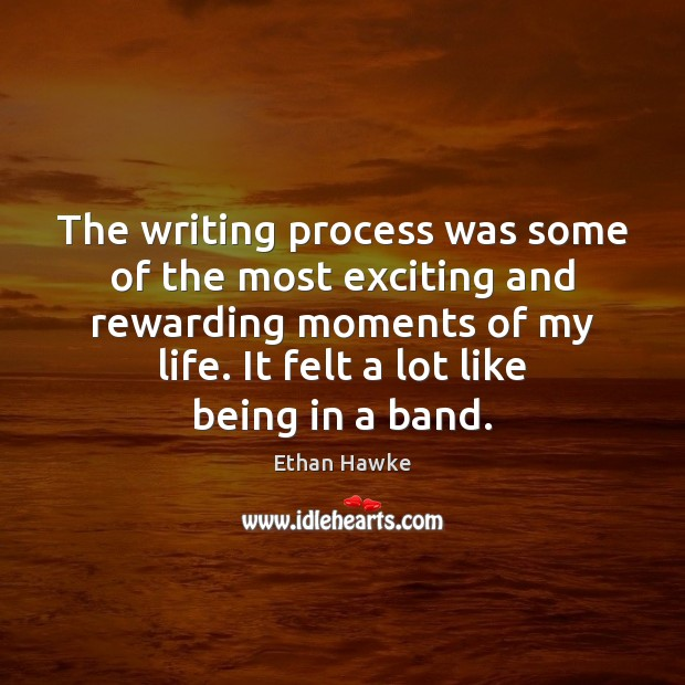 The writing process was some of the most exciting and rewarding moments Image