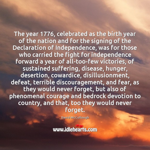 Image, The year 1776, celebrated as the birth year of the nation and for
