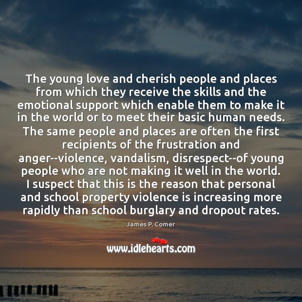 Image, The young love and cherish people and places from which they receive