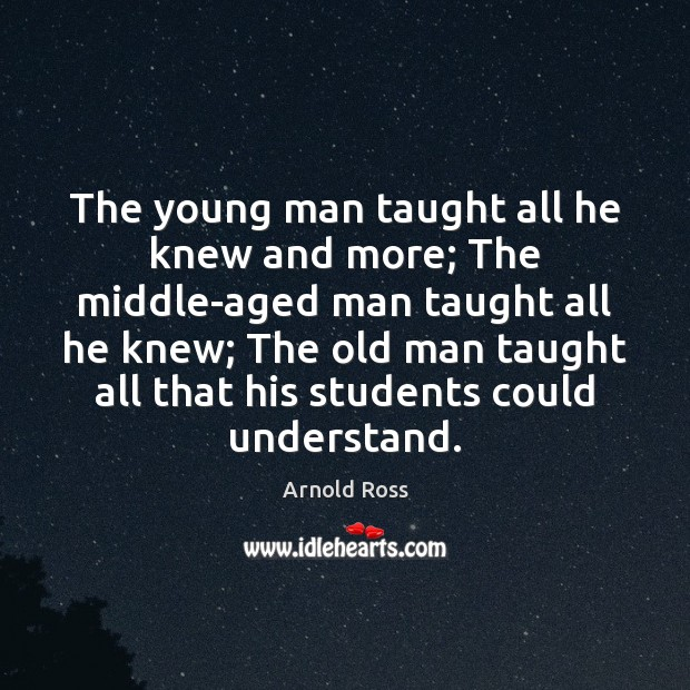 Image, The young man taught all he knew and more; The middle-aged man