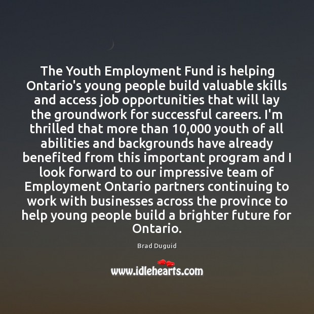 Image, The Youth Employment Fund is helping Ontario's young people build valuable skills