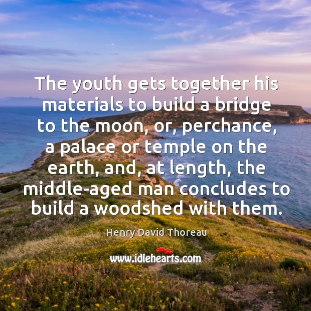 Image, The youth gets together his materials to build a bridge to the moon