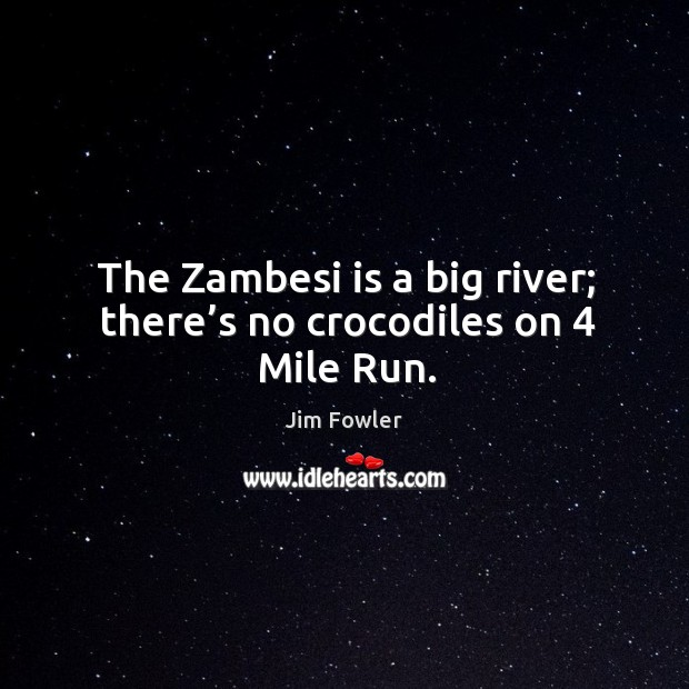 The zambesi is a big river; there's no crocodiles on 4 mile run. Image