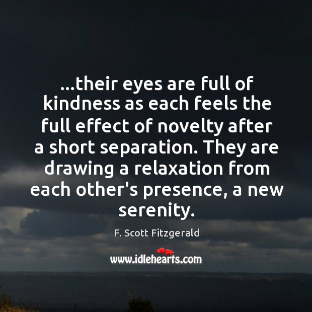 …their eyes are full of kindness as each feels the full effect Image