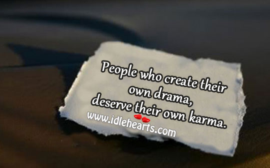 People who create their own drama Image