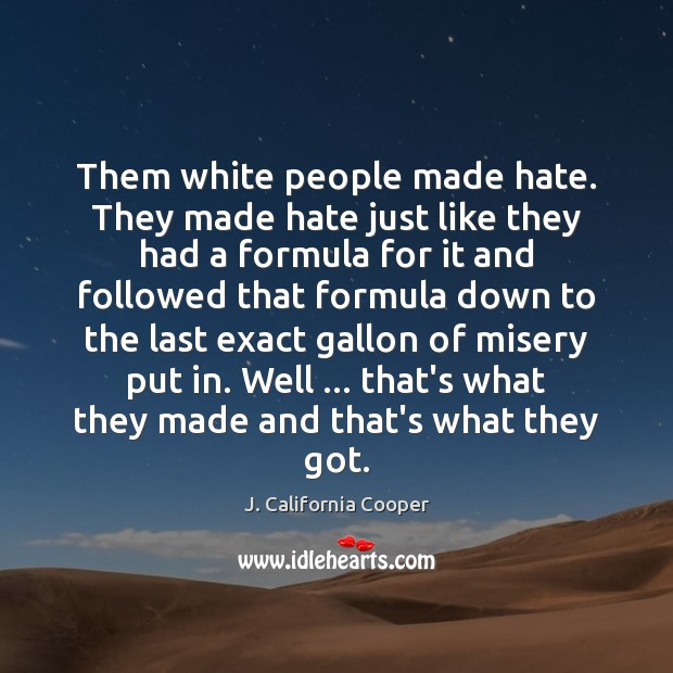 Image, Them white people made hate. They made hate just like they had