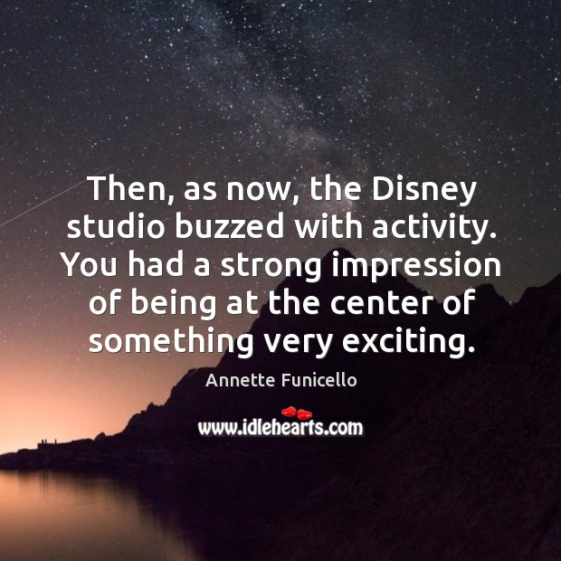 Then, as now, the disney studio buzzed with activity. Image