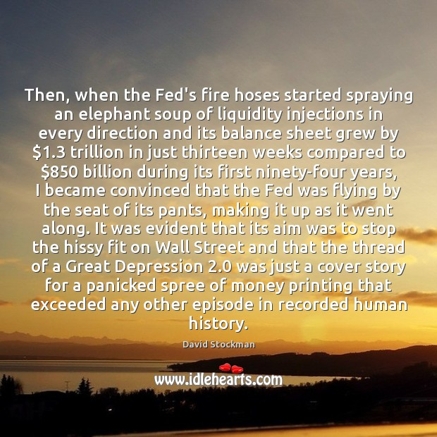 Then, when the Fed's fire hoses started spraying an elephant soup of Image