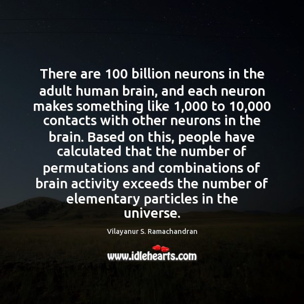 There are 100 billion neurons in the adult human brain, and each neuron Image
