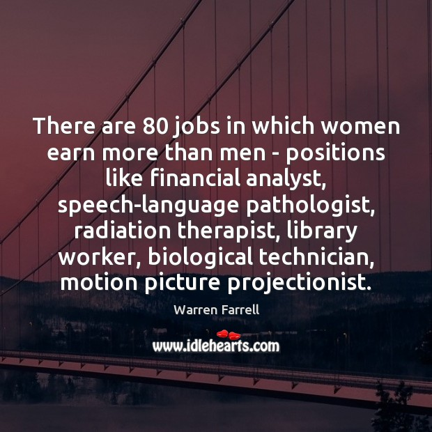 There are 80 jobs in which women earn more than men – positions Image