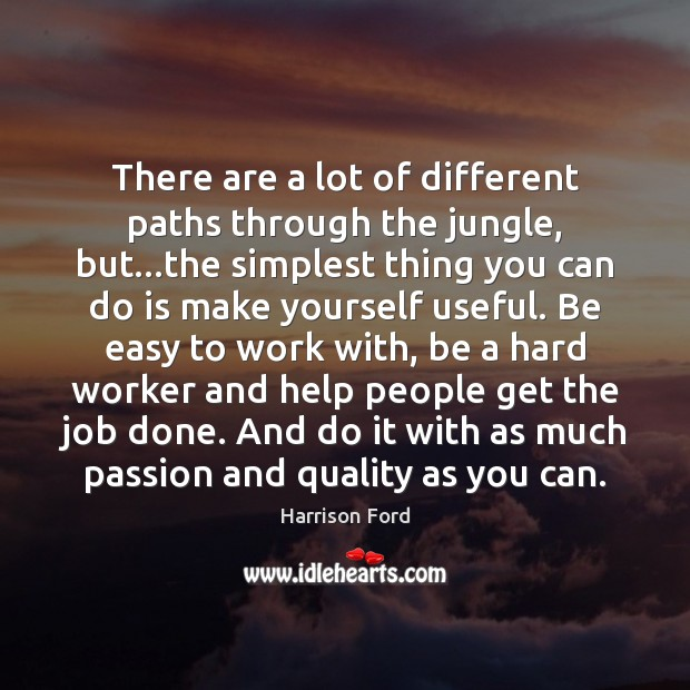 There are a lot of different paths through the jungle, but…the Image