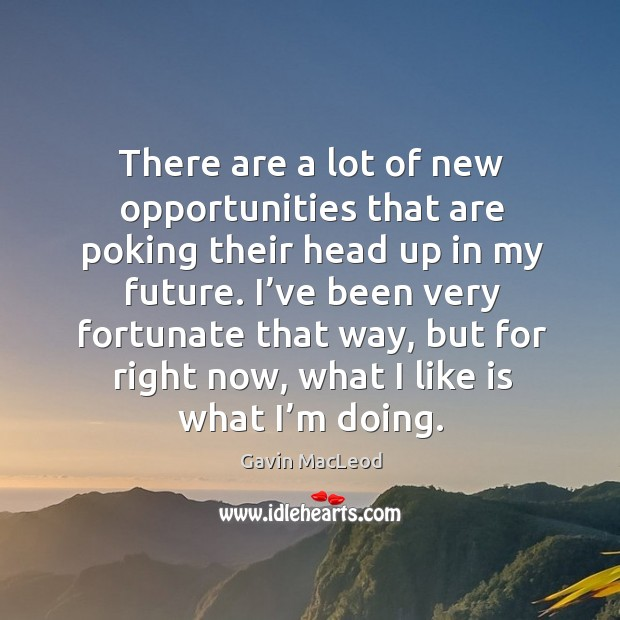 There are a lot of new opportunities that are poking their head up in my future. Image
