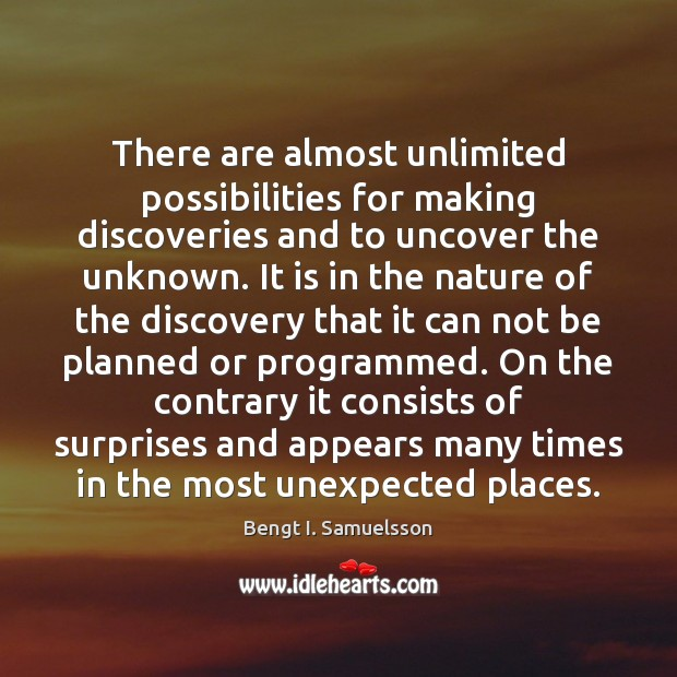 Image, There are almost unlimited possibilities for making discoveries and to uncover the