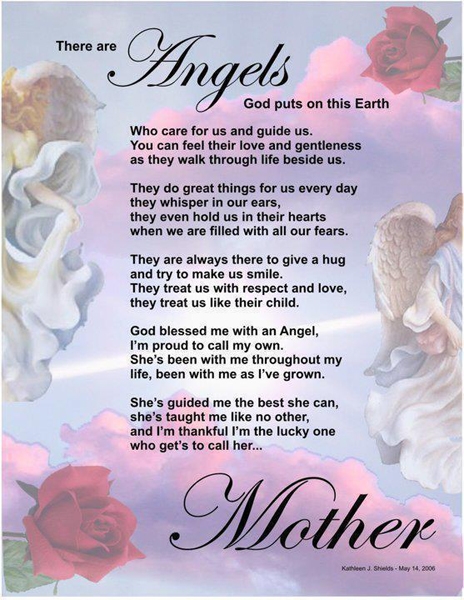 There are angels God puts on this earth. Heart Touching Poems Image