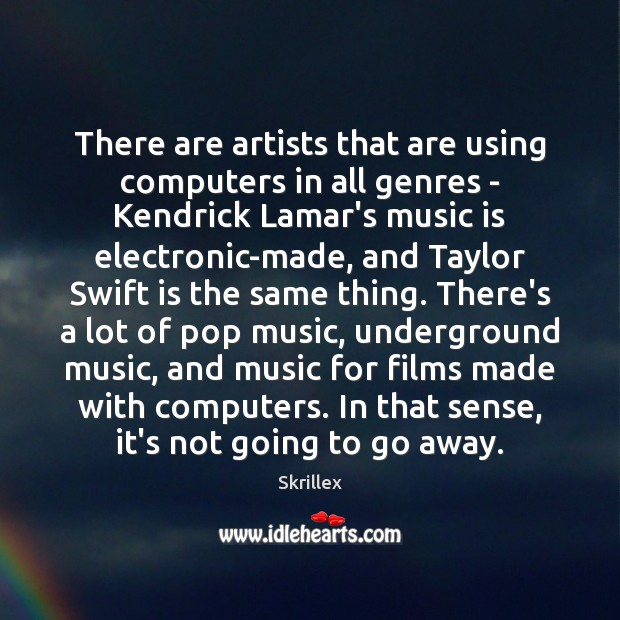 There are artists that are using computers in all genres – Kendrick Image