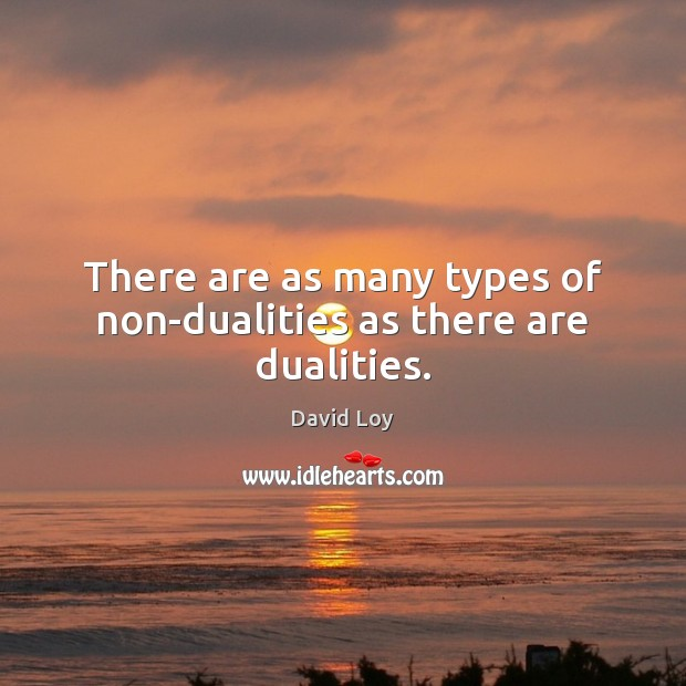 There are as many types of non-dualities as there are dualities. Image
