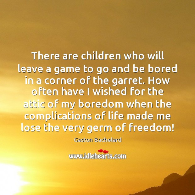Image, There are children who will leave a game to go and be