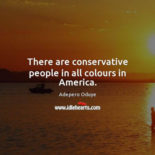 Image, There are conservative people in all colours in America.