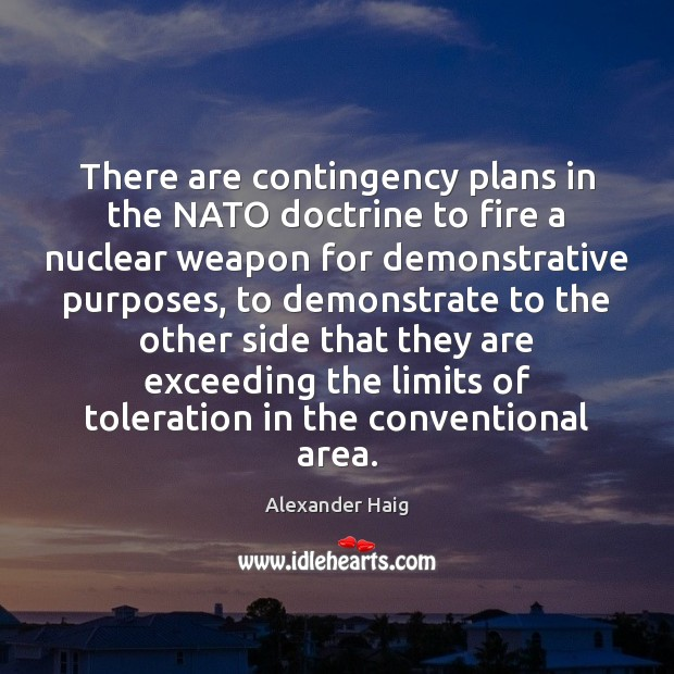 Image, There are contingency plans in the NATO doctrine to fire a nuclear