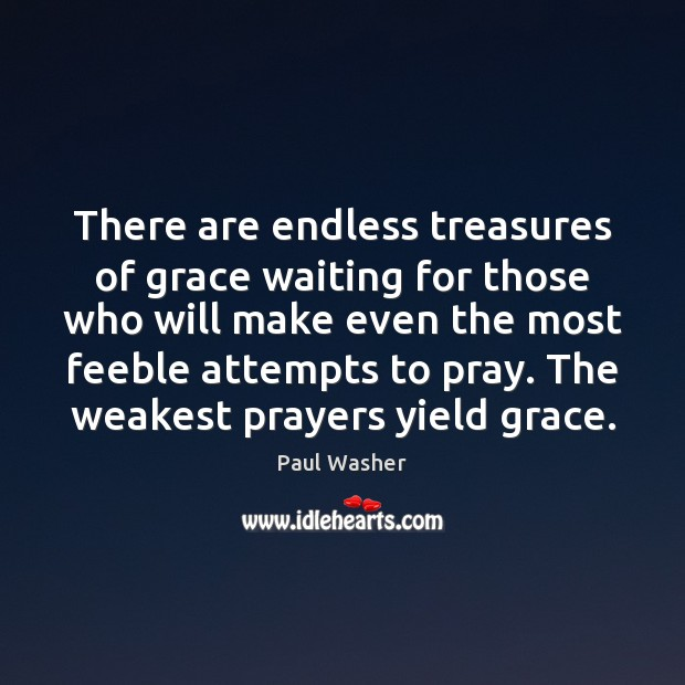 There are endless treasures of grace waiting for those who will make Paul Washer Picture Quote