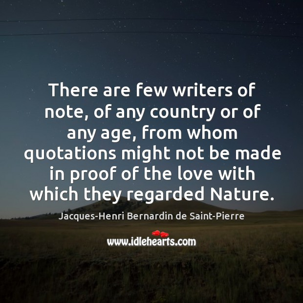 There are few writers of note, of any country or of any Image