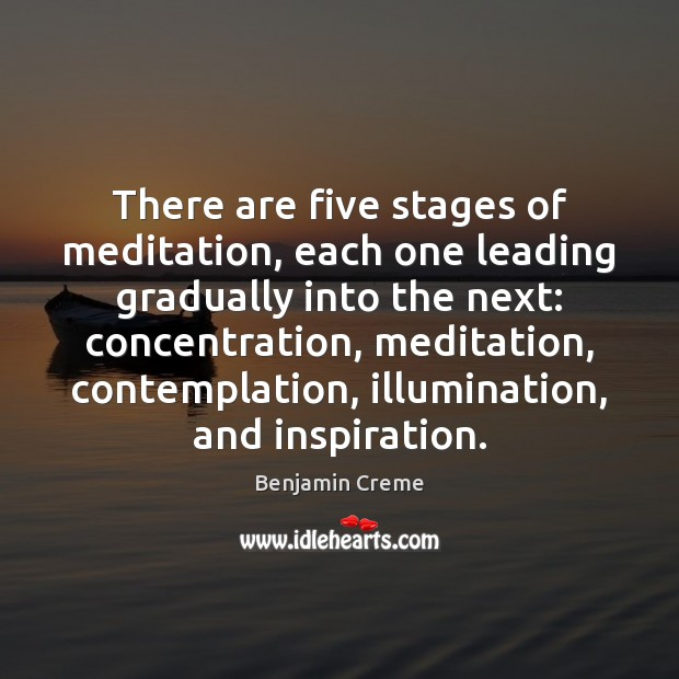 Image, There are five stages of meditation, each one leading gradually into the