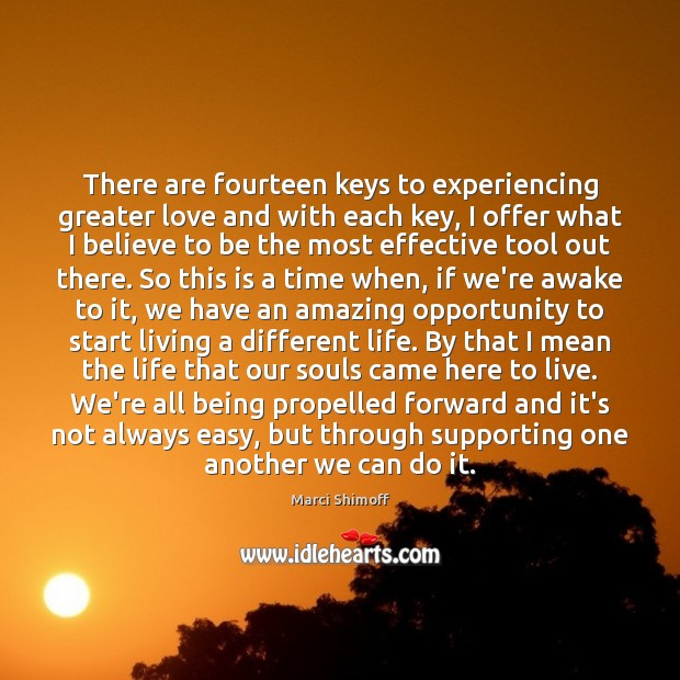 Image, There are fourteen keys to experiencing greater love and with each key,