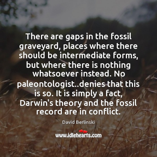 Image, There are gaps in the fossil graveyard, places where there should be