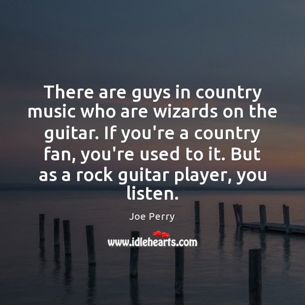 There are guys in country music who are wizards on the guitar. Image