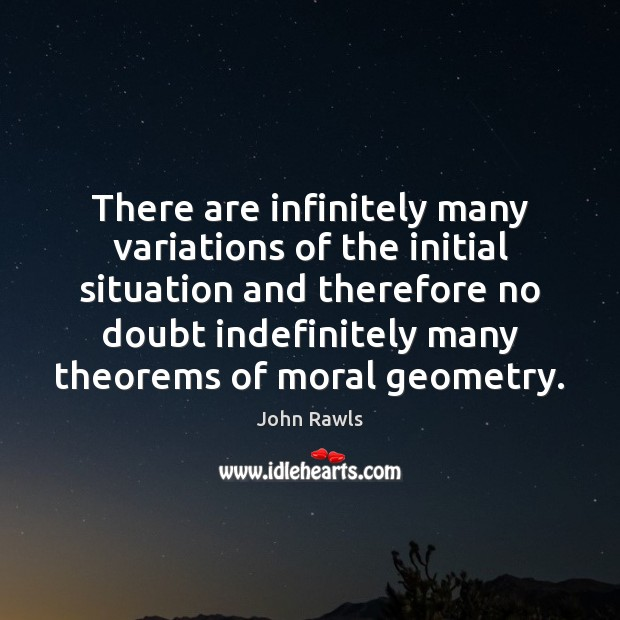 There are infinitely many variations of the initial situation and therefore no Image