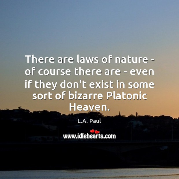 There are laws of nature – of course there are – even Image