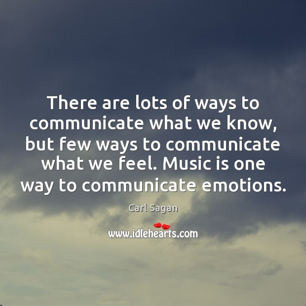 There are lots of ways to communicate what we know, but few Image
