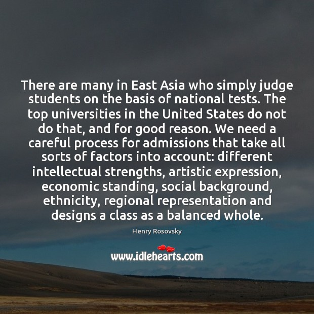 Image, There are many in East Asia who simply judge students on the