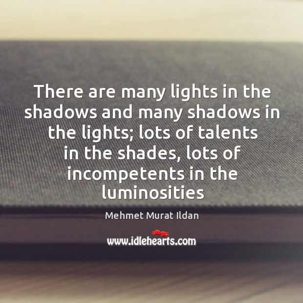 Image, There are many lights in the shadows and many shadows in the