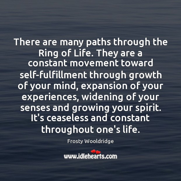 There are many paths through the Ring of Life. They are a Image