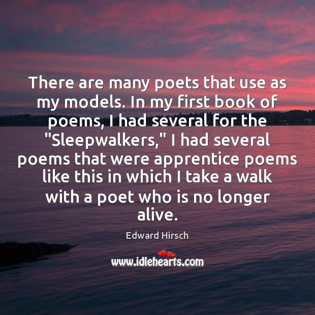 Image, There are many poets that use as my models. In my first
