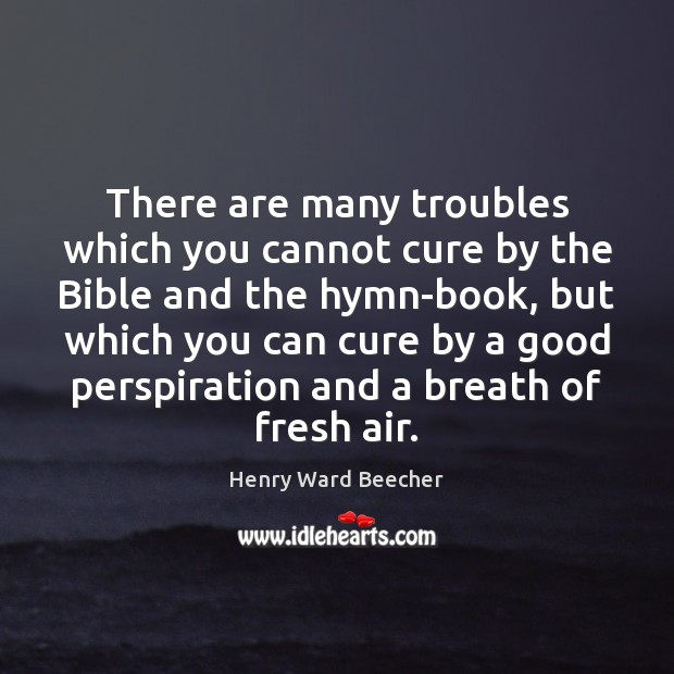 There are many troubles which you cannot cure by the Bible and Henry Ward Beecher Picture Quote