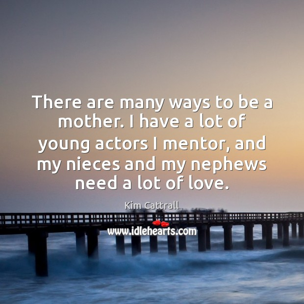 There are many ways to be a mother. I have a lot Kim Cattrall Picture Quote
