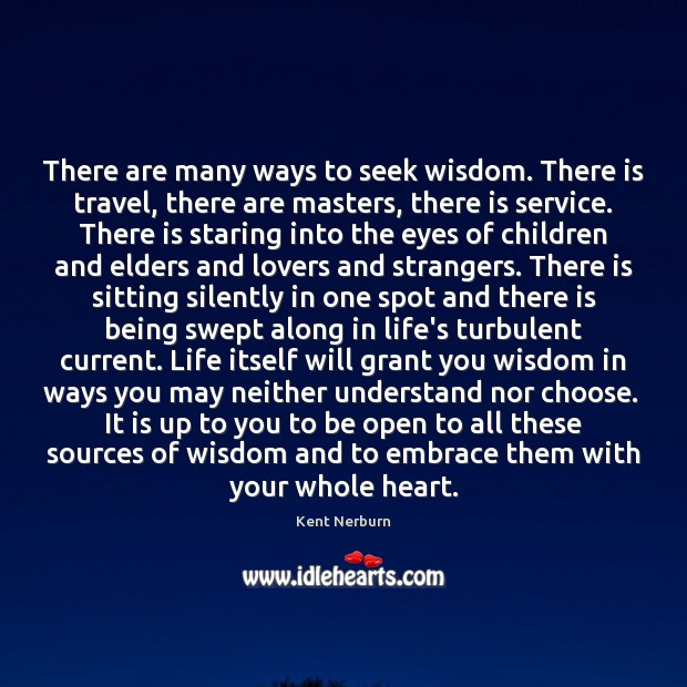 There are many ways to seek wisdom. There is travel, there are Kent Nerburn Picture Quote