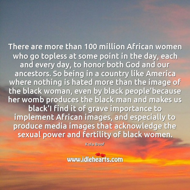 Image, There are more than 100 million African women who go topless at some