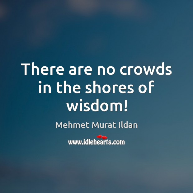 Image, There are no crowds in the shores of wisdom!