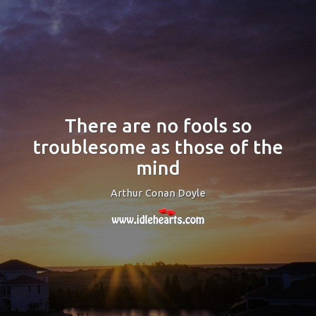 There are no fools so troublesome as those of the mind Image