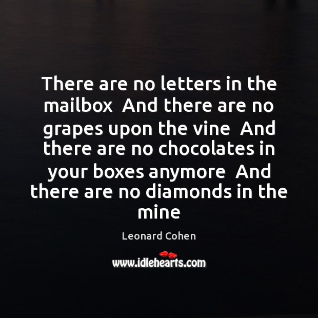 Image, There are no letters in the mailbox  And there are no grapes