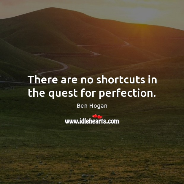 Image, There are no shortcuts in the quest for perfection.