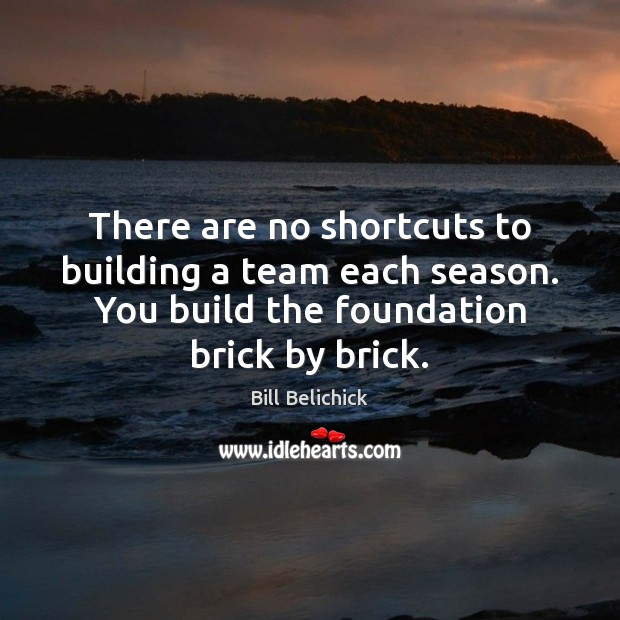 There are no shortcuts to building a team each season. You build Image