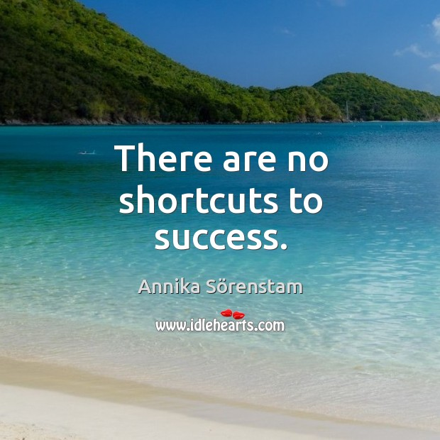 Image, There are no shortcuts to success.