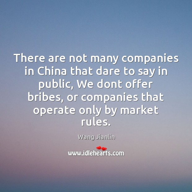 There are not many companies in China that dare to say in Image
