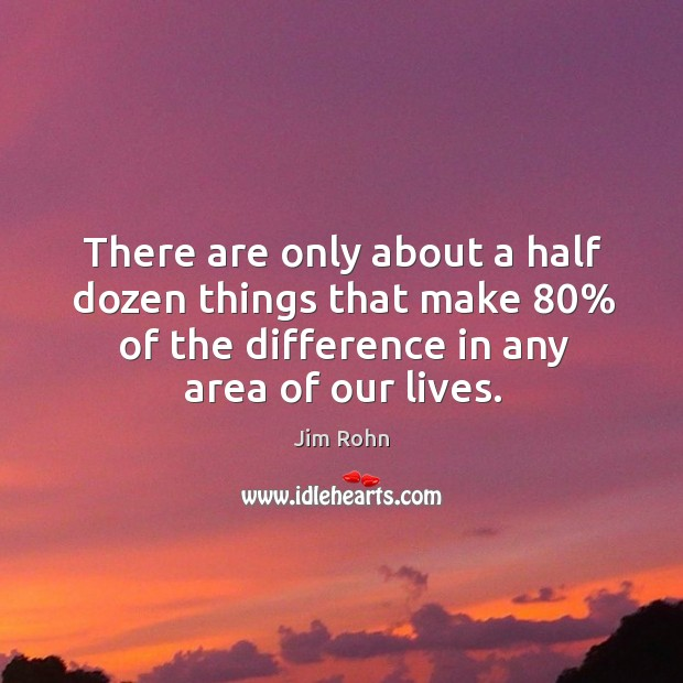 Image, There are only about a half dozen things that make 80% of the difference in any area of our lives.