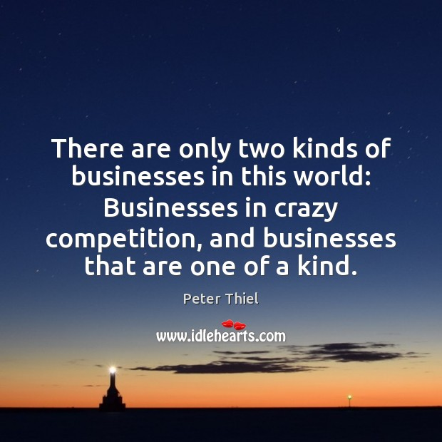 There are only two kinds of businesses in this world: Businesses in Peter Thiel Picture Quote