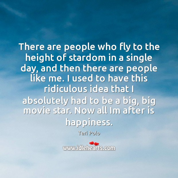 There are people who fly to the height of stardom in a Image